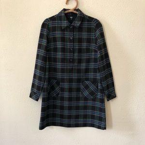 Uniqlo Plaid Dress M